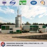 China pré-fabricou o armazém de aço decorado materiais de construção