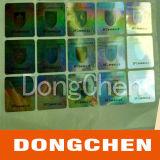 Etiqueta adhesiva holográfica de la etiqueta de la película del vinilo de la etiqueta engomada