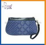 Poche cosmétique de sac cosmétique de polyester de qualité avec le traitement d'unité centrale