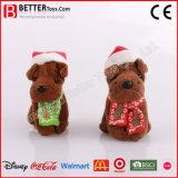 Chirstmas Day Soft Peluche brinquedo de cachorro de pelúcia