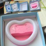 Перезаряжаемые проблесковый свет формы СИД сердца Selfie светлый с зеркалом