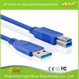 Câble d'imprimante couleur bleu USB3.0