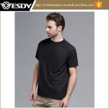 Esdy Outdoor Chasse O-cou respirant T-shirts d'assaut tactique Quick-Drying
