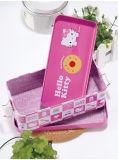 Hola rectángulo de lápiz Doble-Cubierto del metal de la caja del estaño del papel del gatito