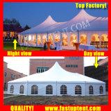 Жесткий высокое пиковое смешанных палатку в рамке для торговых выставок для 500 человек местный гость