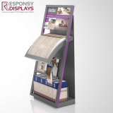 Heißer Verkauf kundenspezifisches Metall-und Holz-Fußboden-Vorstand-Bettzeug-Bildschirmanzeige-Regal für Bettwäsche-Möbelgeschäft