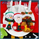 Ornamento di natale del pranzo delle decorazioni di natale dei supporti dell'argenteria della Santa