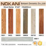 Acabado de textura de la tabla de madera Baldosa porcelana azulejos de la pared de madera