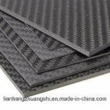 Painel de chapa de fibra de carbono exemplar 3k fosco sarjado/brilhante