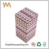 Rectángulo de regalo de papel de lujo de la cartulina para el cosmético