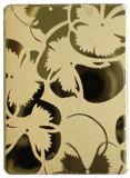 Gravées en acier inoxydable (PVD or gravé miroir)
