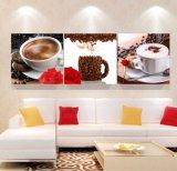 3 het Schilderen van de Muur van het stuk het Moderne Kunst Afgedrukte het Schilderen van de Koffie Beeld van de Kunst van de Zaal Decor Frame die op Decoratie mc-248 wordt geschilderd van het Huis van het Canvas