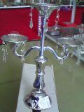 Серебристый цвет и покрытие стекла при свечах держатель с трех плакатов
