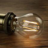 2017의 새로운 Dimmable 필라멘트 LED 전구, 8W 4W 6W LED 필라멘트 램프, Dimmable 연약한 LED 필라멘트 전구