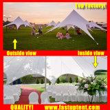 Большой Алюминиевый звездообразный тени Палатка для использования вне помещений свадьбы диаметром 6 м 30 человек местный гость