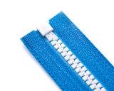 Chiusura lampo di Vislon con i denti ed il tenditore del pollice/superiore bianchi