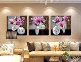 Искусствоо стены 3 частей самомоднейшее напечатало цветки картины крася изображение после того как искусствоа комнаты обрамленное декором оно покрашено на украшении Mc-233 дома холстины