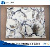 Quarz-Steinbaumaterial für feste Oberfläche mit Qualität (Marmorfarben)
