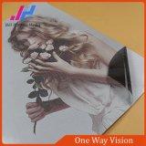 Visione unidirezionale esterna del materiale pubblicitario della pellicola della finestra