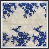 美しい花の網の刺繍のレース