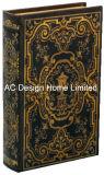 Antique relieve Vintage de cuero de PU/almacenamiento de madera MDF cuadro Libro