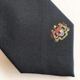 Crear el telar jacquar tejido poliester de la corbata para requisitos particulares con la insignia (L059)