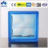 Bloco de vidro da cor 190X190X80mm de Jinghua da alta qualidade/tijolo cor-de-rosa nebulosos