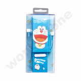 마이크를 가진 Doraemon 작풍 헤드폰