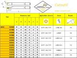標準回転ツールに一致させる鋼鉄HardmetalのためのCutoutil Sracr/L 2020k06