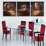3 قطعة حديثة جدار طبع فنية صورة زيتيّة [رد وين] صورة زيتيّة غرفة زخرفة يشكّل فنية صورة يدهن على نوع خيش منزل زخرفة [مك-247]
