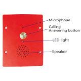 Sistema público de la llamada del hospital del intercomunicador del teléfono de la puerta con los botones iluminados