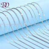Encadenamiento de distribución femenino del collar de la joyería del encadenamiento puro de la plata esterlina 925 de la fábrica