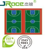 La pallacanestro esterna variopinta antiscorrimento professionale mette in mostra la stuoia della pavimentazione