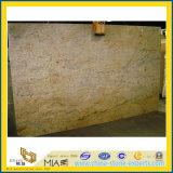 Besnoeiing-aan-Grootte van de Plak van het Graniet van Kashmir van de luxe de Gouden Gele voor Muur (yqg-GS1018)