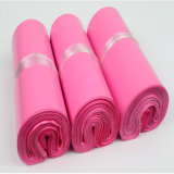 Sac de empaquetage de LDPE d'usine d'enveloppe de courier en plastique fait sur commande de rose