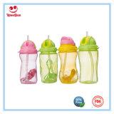 BPA geben große Kind-Sport-Wasser-Flasche mit weichem Stroh frei