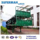 2半車軸40FT容器輸送の平面貨物トレーラー