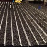 Arrotondare la punta di alluminio antisdrucciolevole della scala del carborundum