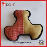 La tela di canapa resistente ha rinforzato il giocattolo del cane delle aggraffature con Squeaker durevole