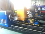 Edelstahl-Rohr-runde Gefäß-/Intersection-Zeile CNC-Plasma-Flamme-Ausschnitt-Loch-Bohrung-abschrägenkerbende Maschine