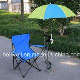 バイクの傘のベビーカーの傘釣椅子によって締め金で止められる傘