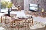 Soporte de TV chapado en oro gabinete de diseño de lujo en venta