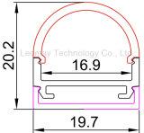 19.7*20.2mm LED 지구 빛 알루미늄 단면도에 의하여 주문을 받아서 만들어지는 길이
