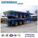 3つの車軸貨物輸送の平面トラックのトレーラーの熱い販売