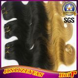 Corps Cheveux humains indiens vierges d'onde Ombre hair extension