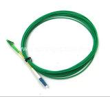 Groene Kleur LC/Upc-LC/APC Sm 9/125 SimplexKabel van het Flard van de Vezel 5meter van 3.0mm Optische
