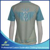 Lacrosse-Kurzschluss-Hülsen-Schießen-Hemden des Zoll sublimierten Mädchens