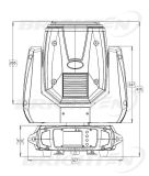 280W Mini DJ Sharpy Movimentador de movimentação de Fase do feixe