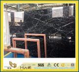 Nero Marquina Black Marble Tiles for Flooring