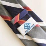 Fabricant de gros logo à rayures Cravate en polyester d'attache (L014)